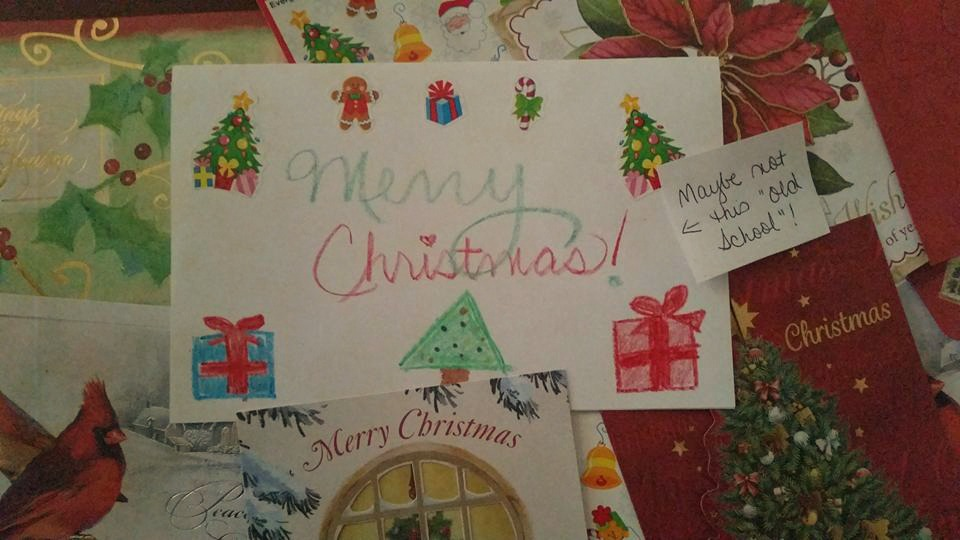 """The """"Old School"""" Christmas Card Challenge"""