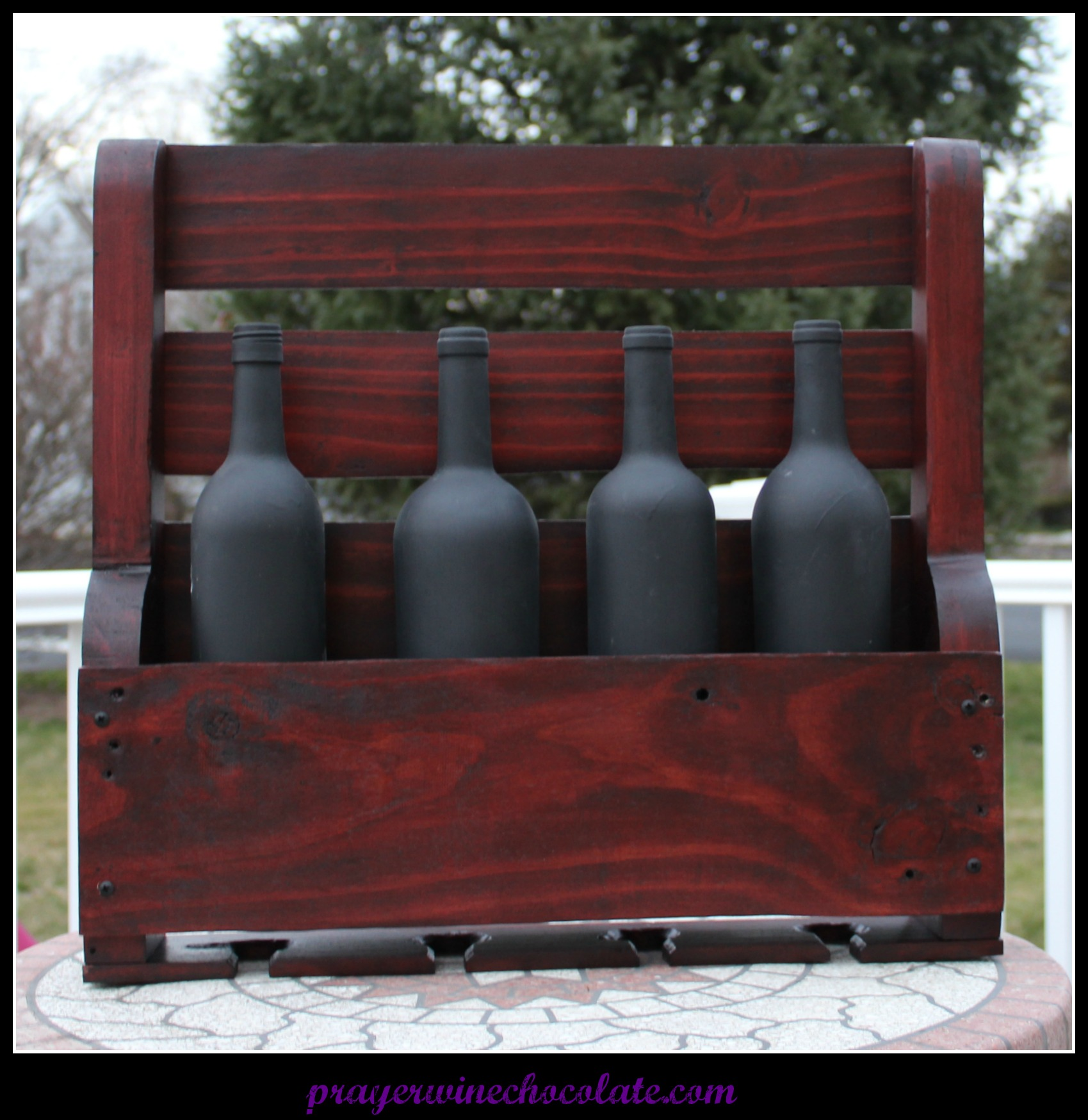 "The ""Prayer, Wine, Chocolate"" Wine Rack {""How-to"" Guide}"